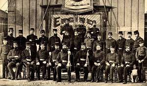 One of several fire brigades or clubs operating in Petrolia, ON circa 1876.